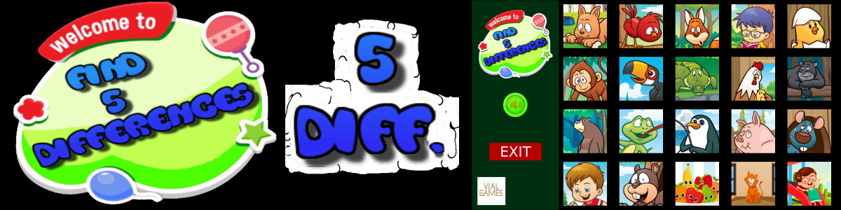 free download Find 5 differences for kids
