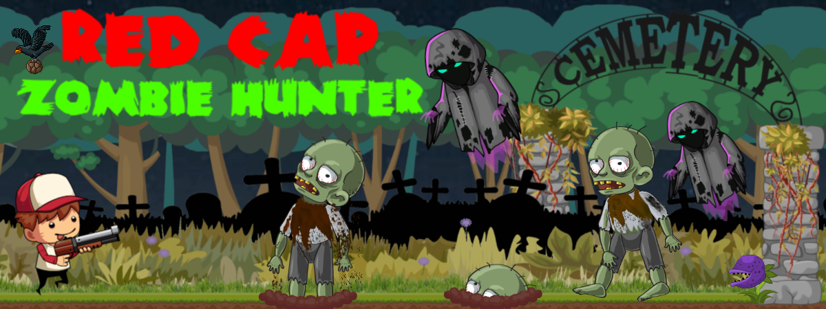 Red cap zombie hunter
