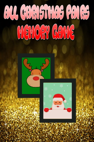 All Christmas pairs memory game